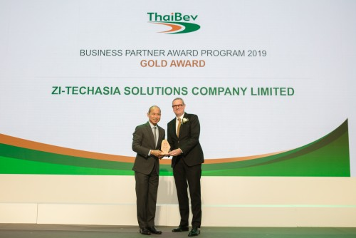 ZI-LIFE won Gold Award as excellent performance supplier of ThaiBev.