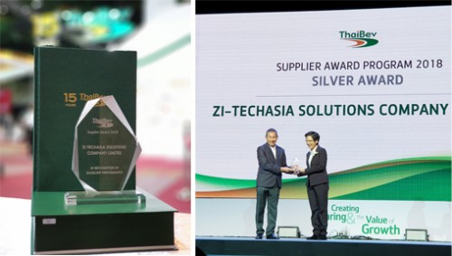 FFI/ZI-LIFE received an excellent performance supplier award from ThaiBev